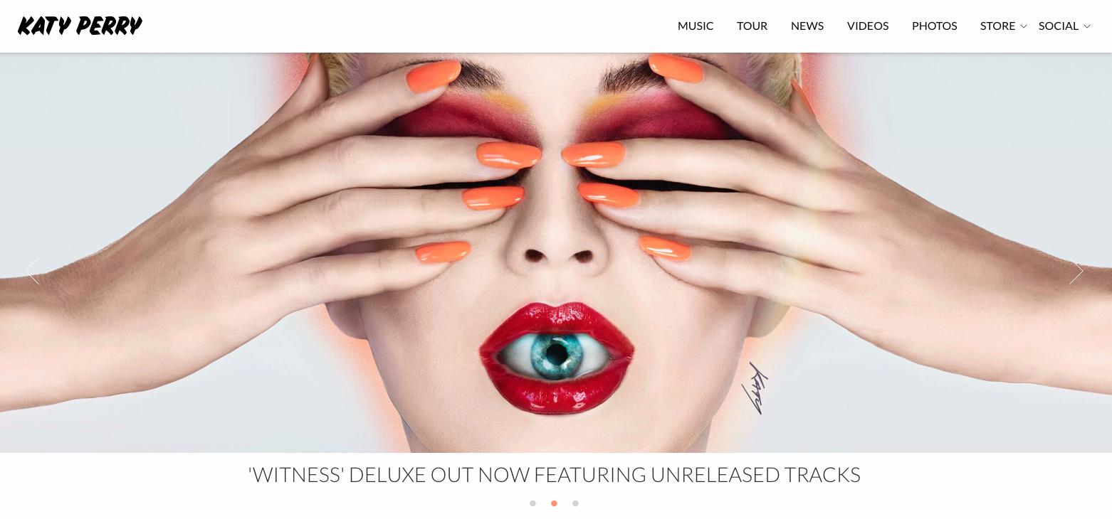 Katy Perry's website