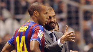 Thierry Henry and Pep Guardiola