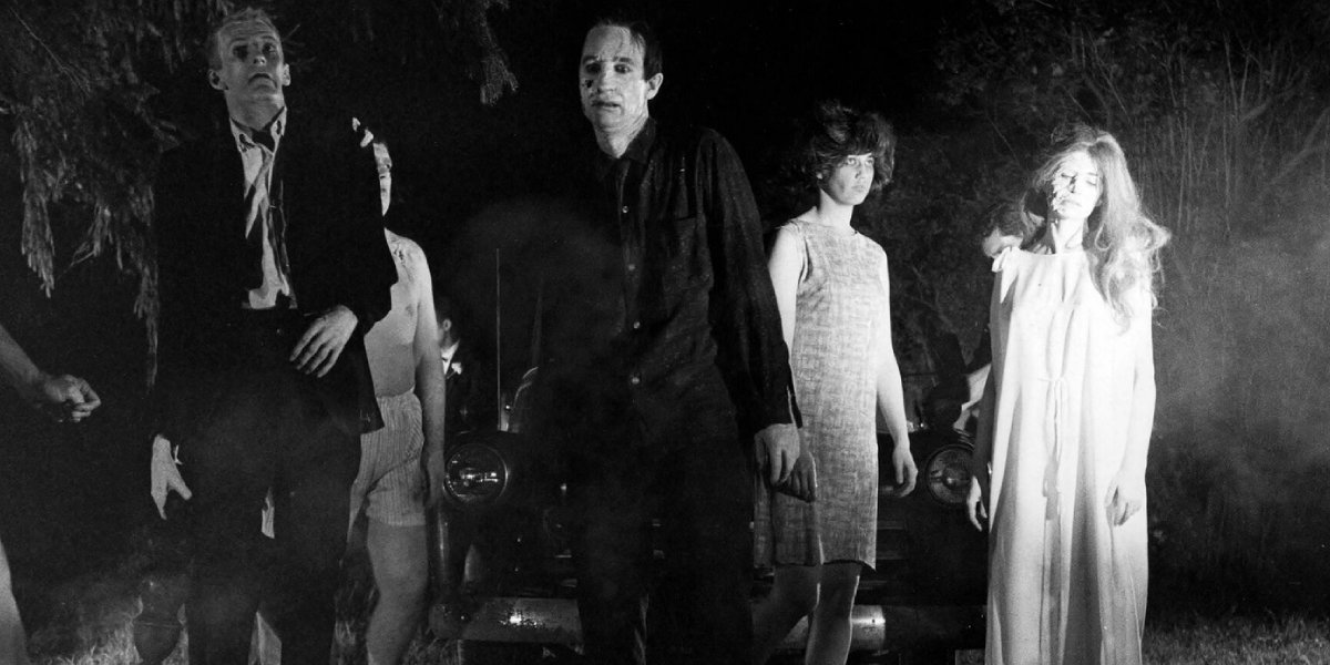 The shambling corpses in Night of the Living Dead