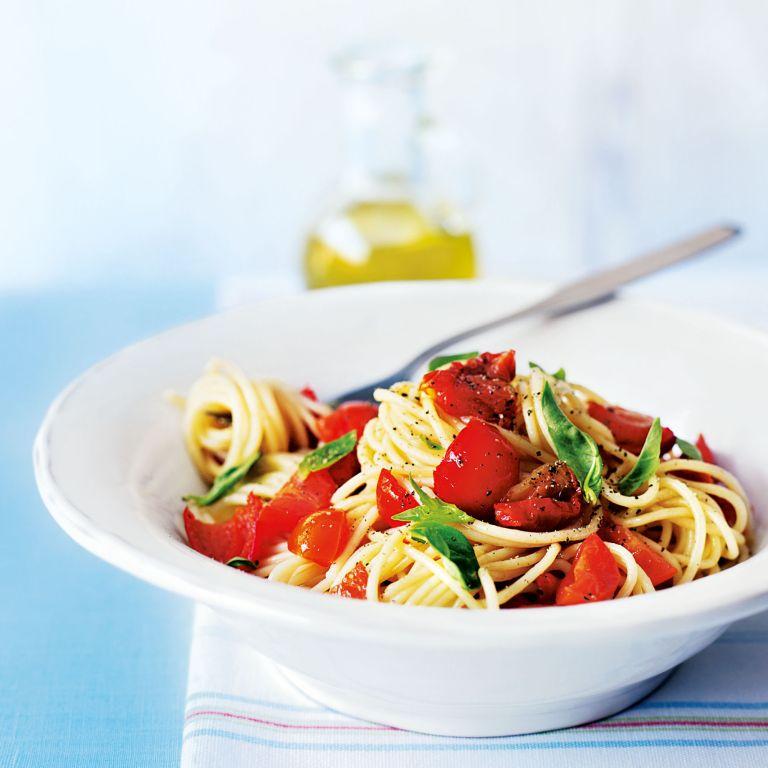 Tomato and Peppadew Summer Spaghetti recipe-pasta recipes-recipe ideas-new recipes-woman and home
