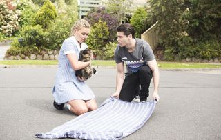 Poisoned! Piper's cat Clementine is attacked by Adrian Snyder in Neighbours