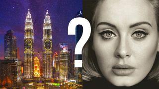 Kuala Lumpur and Adele's album cover.