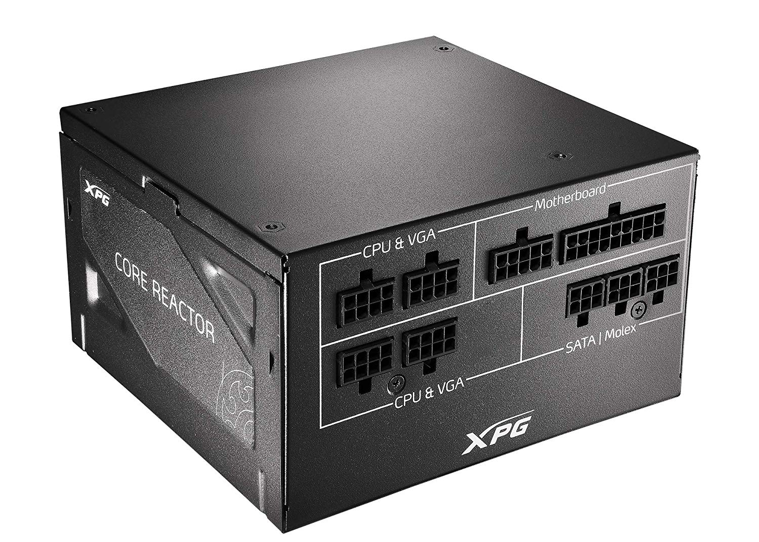XPG Core Reactor 750W at an angle against a white background