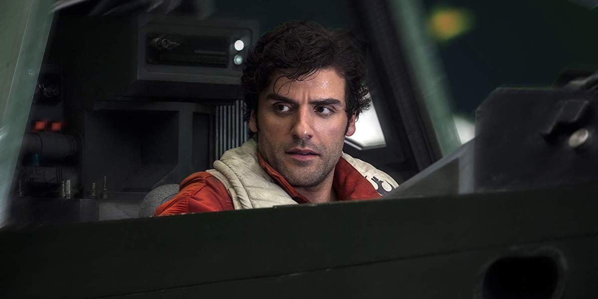 Oscar Isaac as Poe Dameron in Star Wars: The Last Jedi
