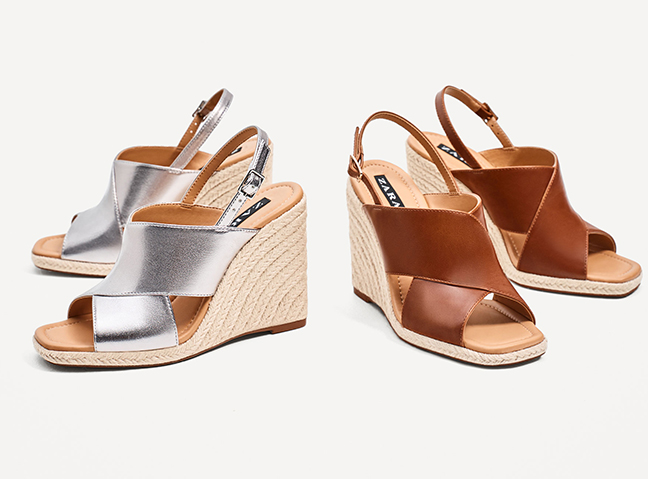 be6839bddf9 Get Ruth Langsford s Zara Metallic Wedges - She Loves Them And You ...