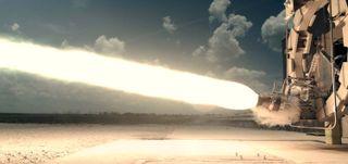 Firefly Alpha aerospike rocket engine test