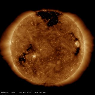 SDO Spies Big Coronal Hole