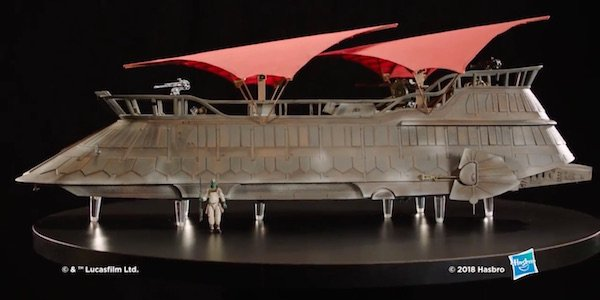 Jabba's sail barge toy