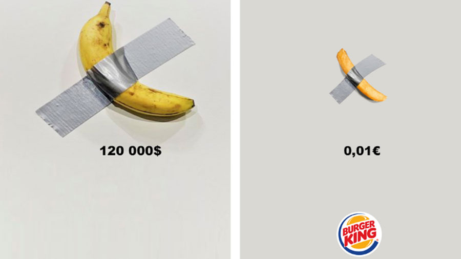 Burger King Trolls Banana Artwork With A French Fry Creative Bloq