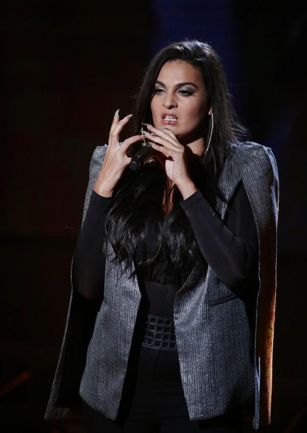 Monica on the X Factor (Syco/Thames/Corbis/Dymond)