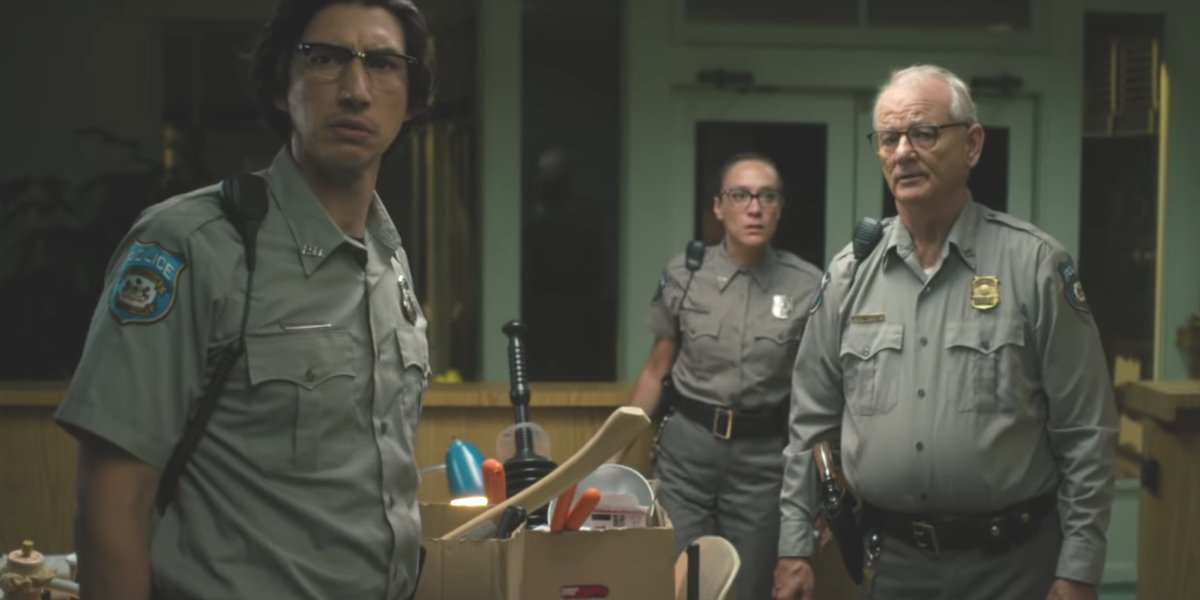 Adam Driver, Chloë Sevingy, and Bill Murray in The Dead Don't Die
