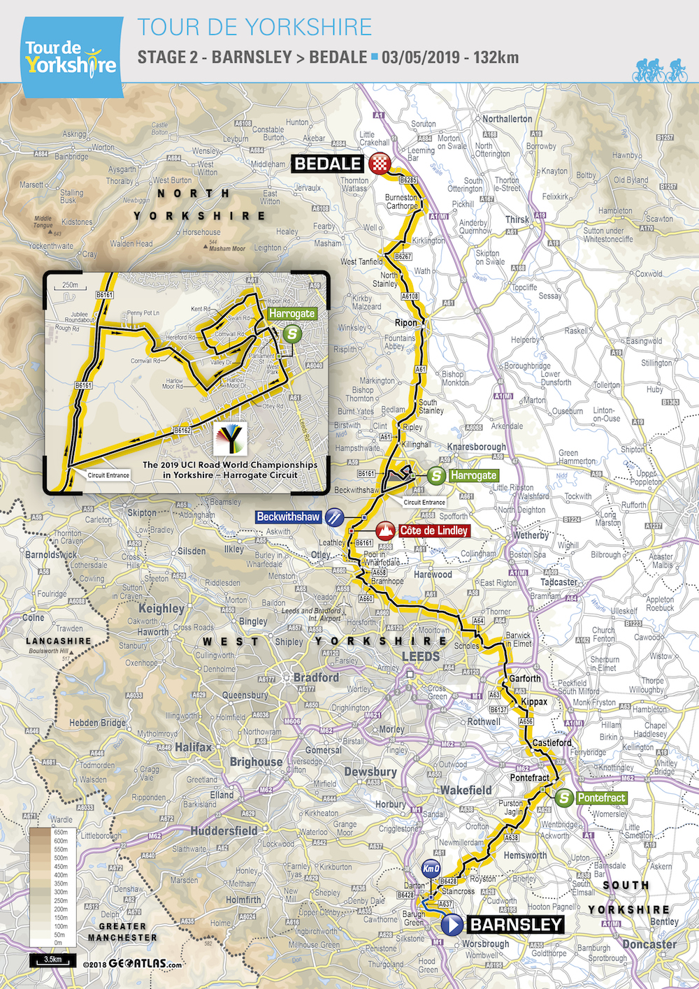 Tour De Yorkshire Map Tour de Yorkshire route 2019: maps and profiles of every stage