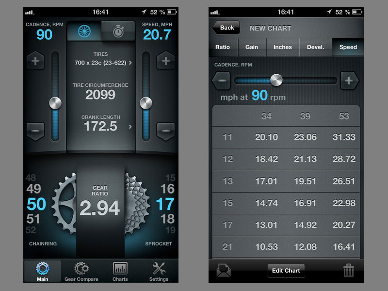 Bike Gearing Calculator Bike Gear Calculator app
