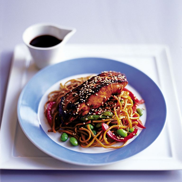 Stir-Fry Salmon Yakitori Recipe-salmon recipes-recipe ideas-new recipes-woman and home
