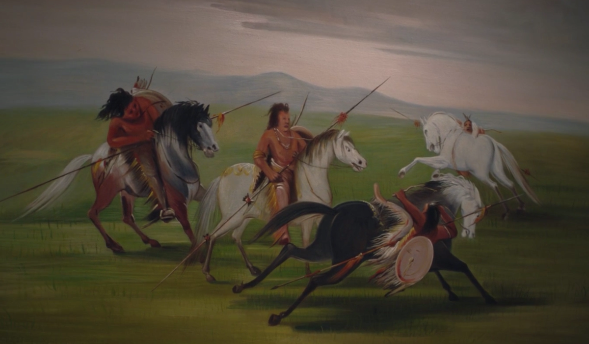 watchmen martial feats of comanche horsemanship painting