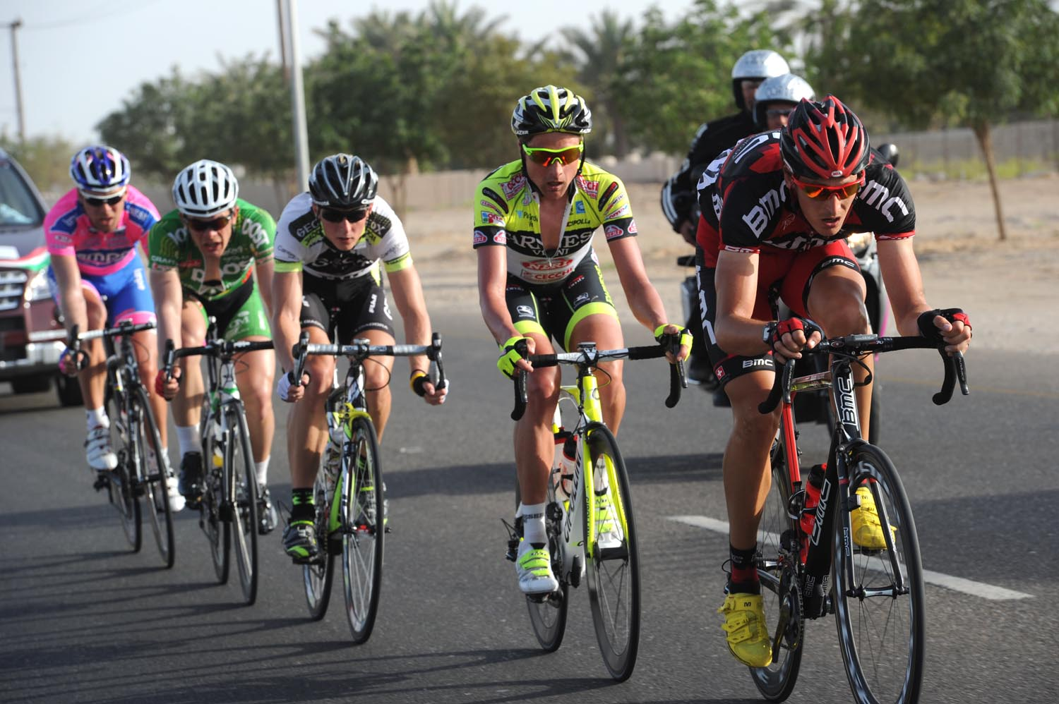 Marcus Burghardt escape, Tour of Oman 2011, stage three