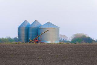 grain silos on the prairie