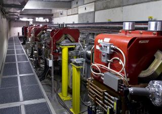 A photo shows the antiproton decelerator at CERN.