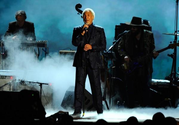 Tom Jones on stage