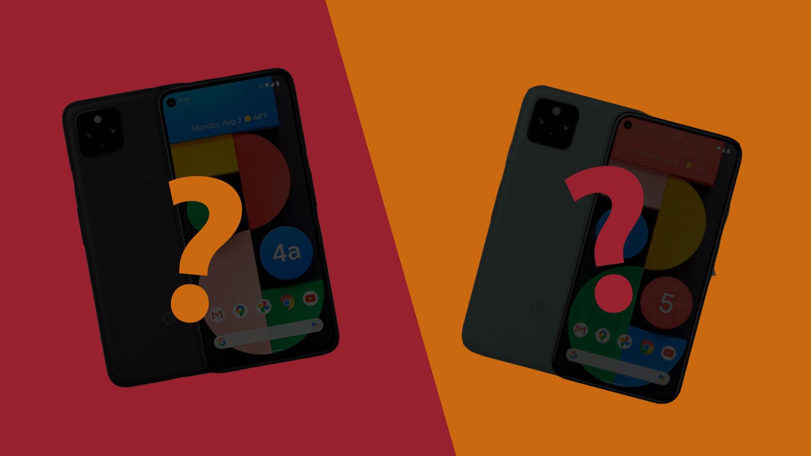 Google Pixel 5a vs Pixel 6