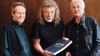 Dave Brolan/Reel Art Press - Jones, Plant and Page with the official 50th anniversary Led Zeppelin book