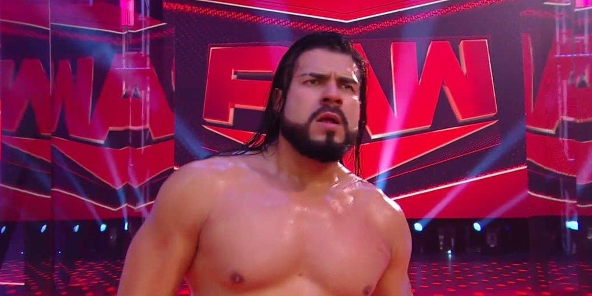 Andrade on Monday Night Raw