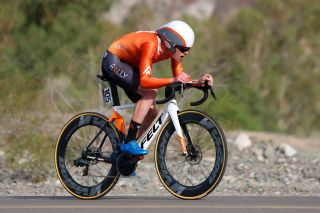 Gavin Mannion in the Vuelta a San Juan time trial in January