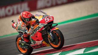 Marc Marquez ajamassa MotoGP-pyörällä Itävallan Styria Grand Prixissa