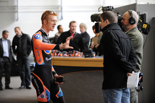 Ed Clancy interviewed, Motorpoints Marshalls Pasta team 2010