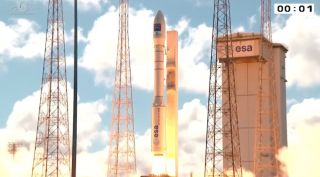 Vega Rocket Launches Turkish Satellite