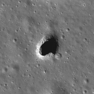 Rare Hole In the Moon Photographed