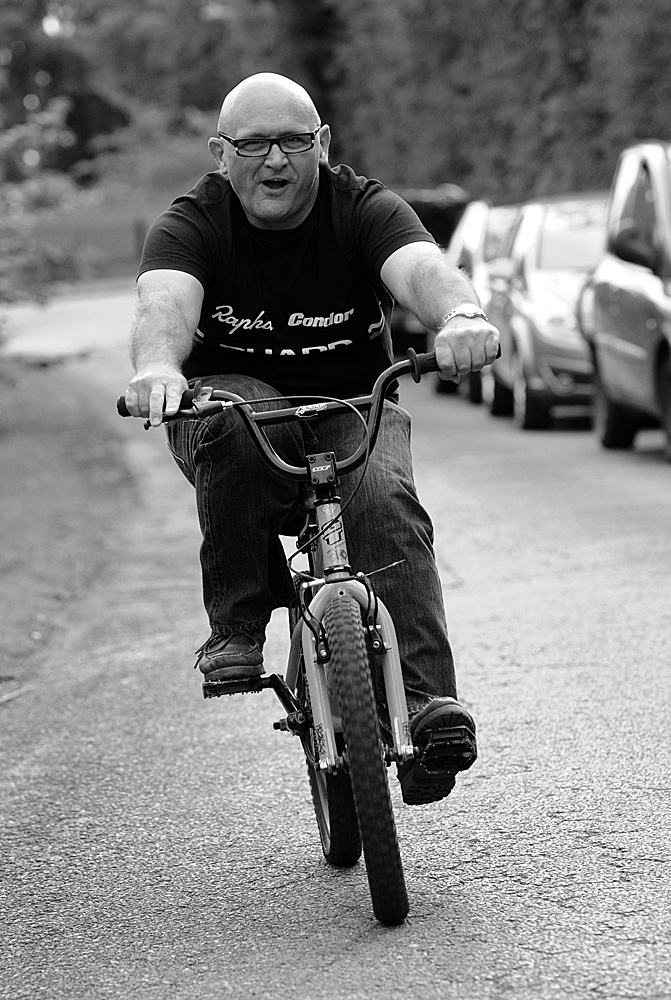 John Herety on expensive TT machine, Rossington Evening 10-mile time trial, August 2011
