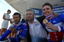 Nacer Bouhanni, Marc Madiot and Arnaud Demare