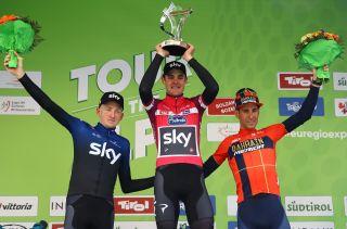 The 2019 Tour of the Alps podium