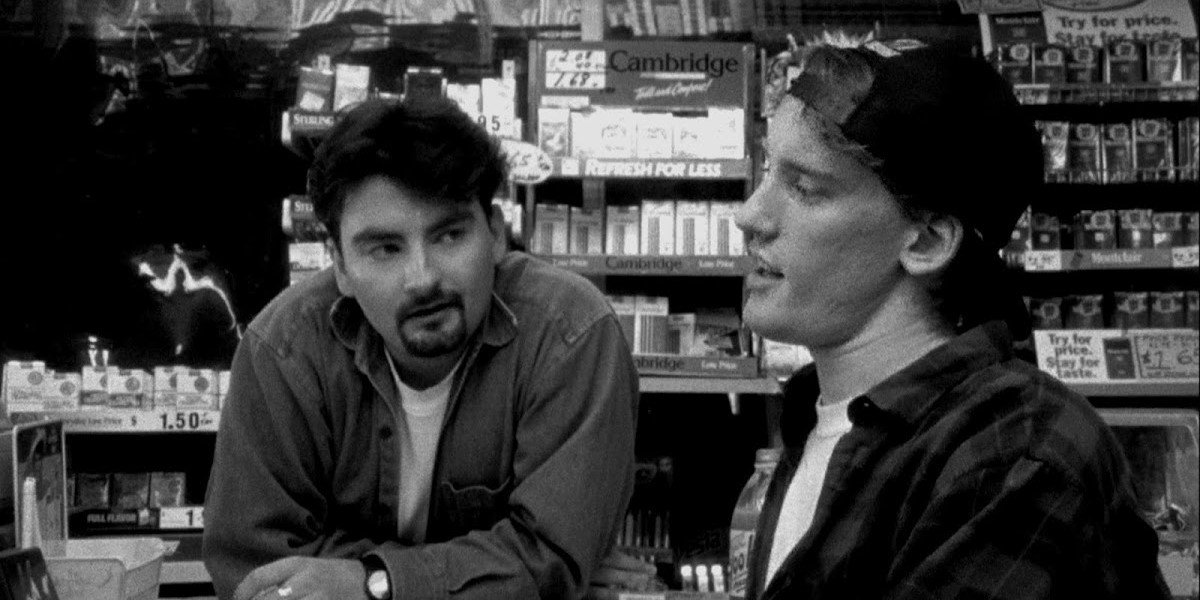 Brian O'Halloran and Jeff Anderson in Clerks