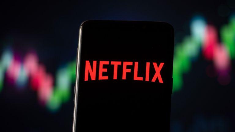 Netflix logo displayed on phone