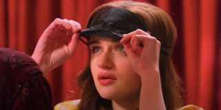 The Kissing Booth 2 Joey King removing her blindfold in surprise