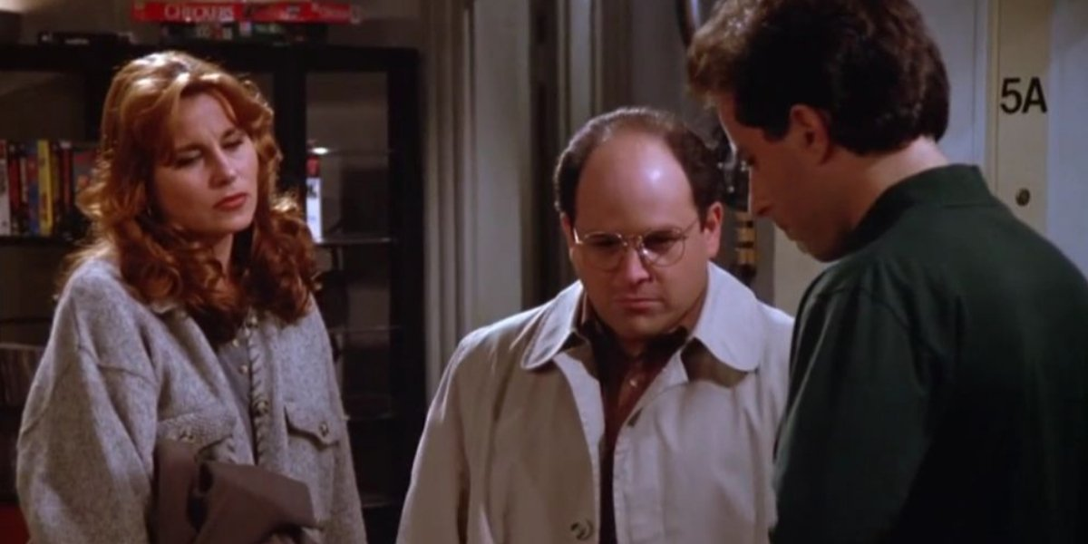 Jennifer Coolidge, Jason Alexander, and Jerry Seinfeld on Seinfeld