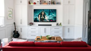 Vizio smart TV in living room