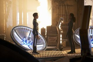 "Burnham (Sonequa Martin-Green) speaks with her mother Gabrielle (Sonja Sohn) in the ""Star Trek: Discovery"" episode ""Perpetual Infinity."""