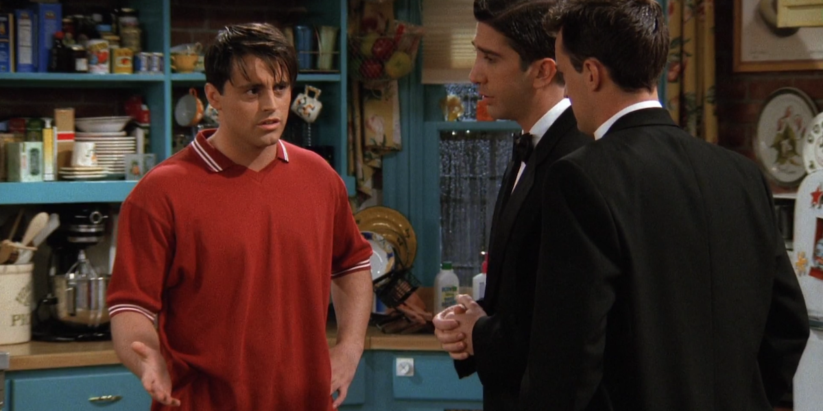 Friends Joey I'm not gonna go commando in another man's fatigues