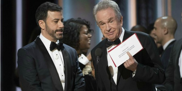 Jimmy Kimmel and Warren Beatty in the aftermath of the Oscars debacle
