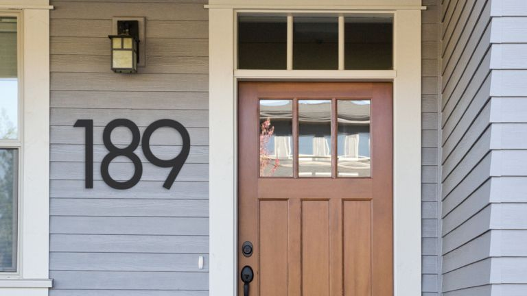 Curb appeal - a statement 50cm House Number Black steel