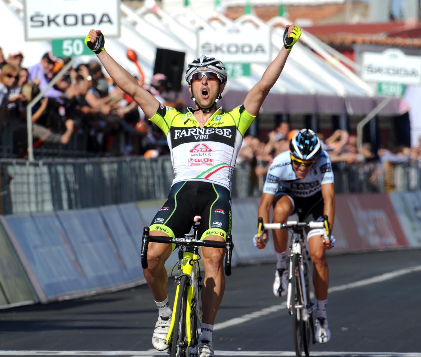 Oscar Gatto wins, Giro d