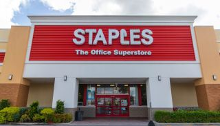 Facade of a Staples store in Cape Coral, Florida.