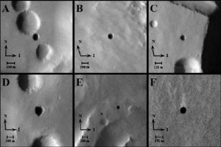 Possible New Mars Caves Targets in Search for Life
