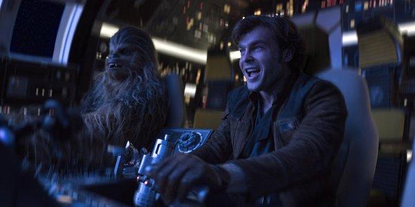 han solo a star wars story millennium falcon chewbacca alden ehrenreich