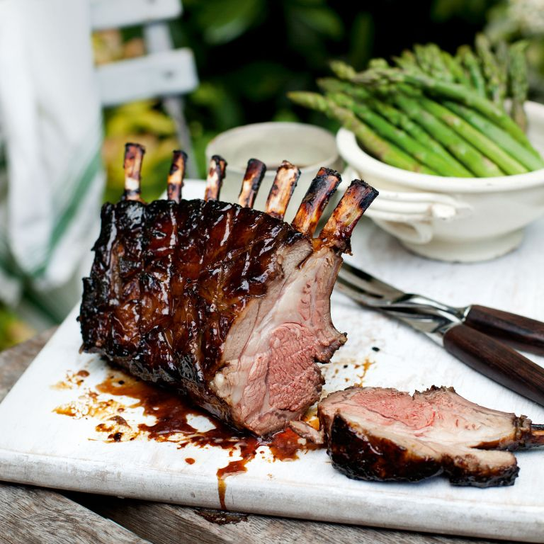 Sticky rack of lamb-mint-summer recipes-woman and home