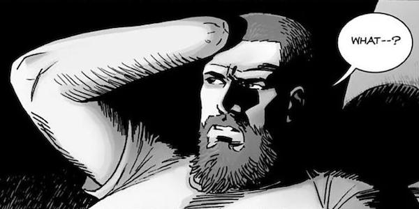 rick grimes getting shot walking dead comic issue 191