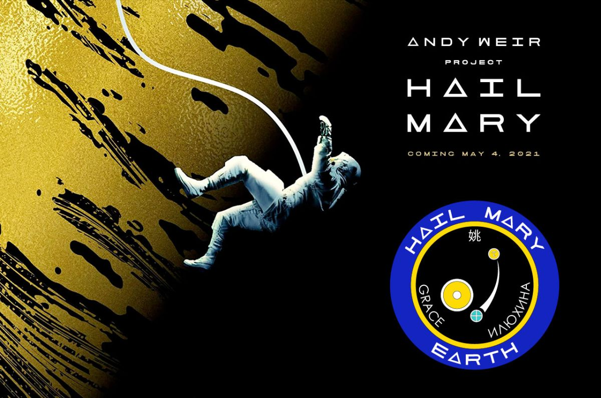 Writer Andy Weir gives 'Challenge Hail Mary' mission patch on digital ebook tour